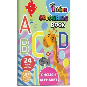 THE LITTLES COLOURING BOOK A4 24PAGES ENGLISH ALPHABET