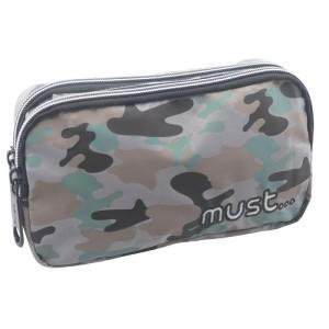 MUST PENCIL CASES 20Χ6Χ9 2ZIPPER REFLECTIVE ARMY DESIGN