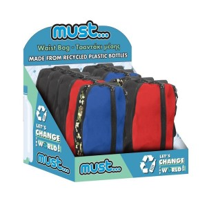 MUST WAIST BAG 32X6X10CM 2CASES 900D RPET 4COLORS