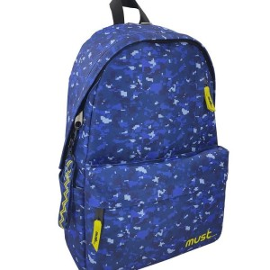 MUST BACKPACK MONOCHROME 32Χ17Χ42 4CASE ARMY BLUE 900D RPET