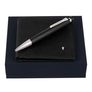 FESTINA Set Card wallet Chronobike Black + Ballpoint pen Chronobike Classic Chrome