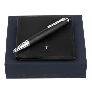 FESTINA Set Card wallet Classicals Black + Ballpoint pen Chronobike Classic Chrome