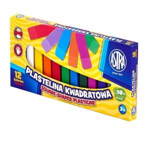 ASTRA Rectangular plasticine - 12 colors