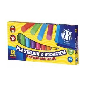 ASTRA Plasticine with glitter 12 colors