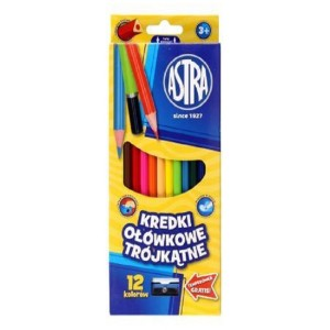ASTRA Triangular colored pencils 12 colors
