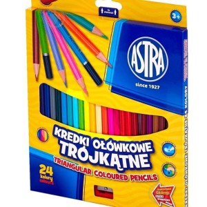 ASTRA Triangular colored pencils 24 colors