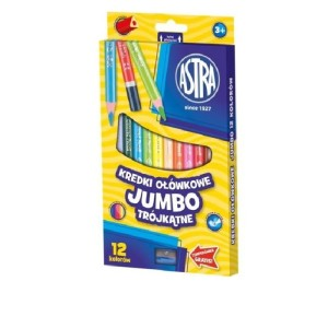 ASTRA Jumbo triangular colored pencils 12 colors