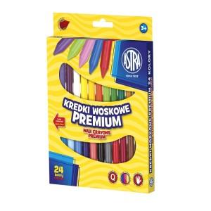 ASTRA Wax crayons 24 colors