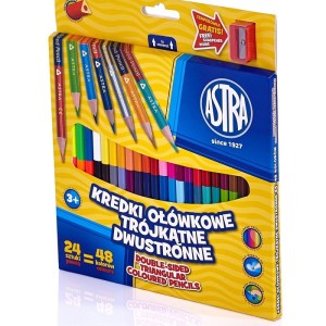 ASTRA Two-sided triangular colour pencils 24pcs=48colors