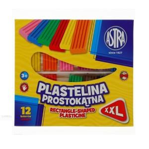 ASTRA Rectangular plasticine - 12 colors - XXL