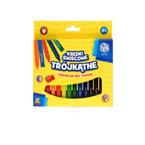 ASTRA Triangular crayons 12 kolorów