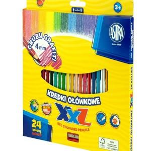 ASTRA Hexagonal colored pencils, 24 colors - lid 4mm