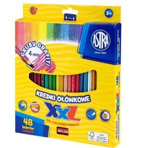 ASTRA Hexagonal colored pencils, 48 colors - lid 4mm