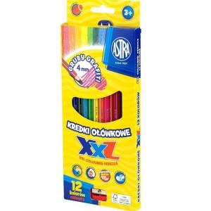 ASTRA Hexagonal colored pencils, 12 colors - lid 4mm