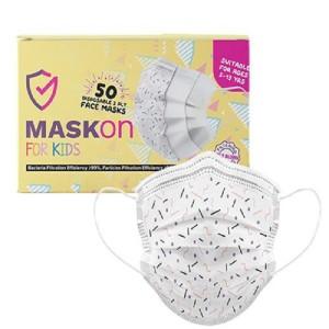MaskOn Kids: KIDS - PINK & PURPLE SPRINKLES - 50 Pack