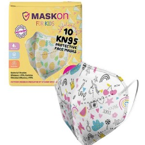 MaskOn Kids: KIDS KN95 - UNICORN LOVE - 10 Pack