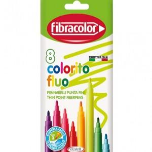 ETAFELT Fibracolor FLUO COLORFUL FIBER MARKERS CONF. 8 PCS