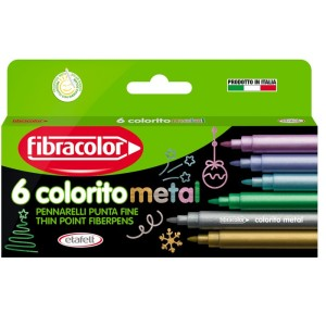 COLORITO Metal complexion Fine tip marker Set of 6