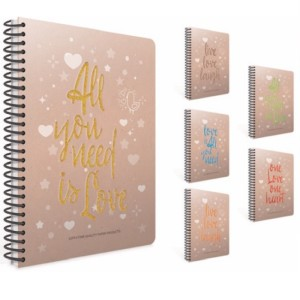 Gipta Love Book Lined Hard cover Notebook