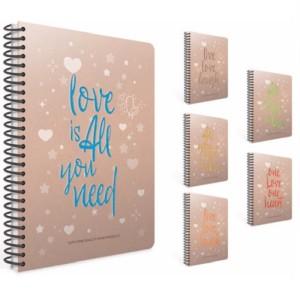 Gipta Love Book Lined Carton cover Notebook
