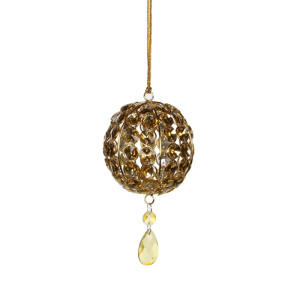 Christmas Ornament ball gold - h11xd9,5cm