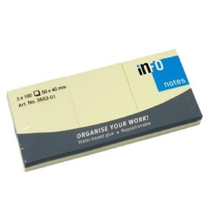 INFO Yellow Sticky Notes 50 X 40 MM