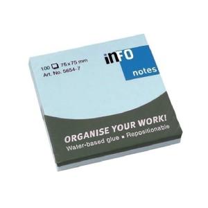 INFO Blue Sticky Notes 75 X 75 MM