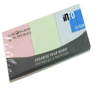 INFO Sticky Notes 50 X 40 MM