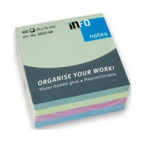 INFO Brilliant Mix Sticky Notes 75 X 75 MM