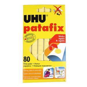 UHU Patafix Yellow Tack Pads 80 Pads