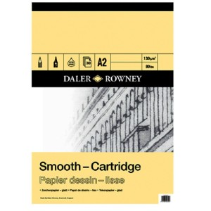Daler Rowney Smooth Cartridge Pad - 130gsm - 30 Sheets - A2