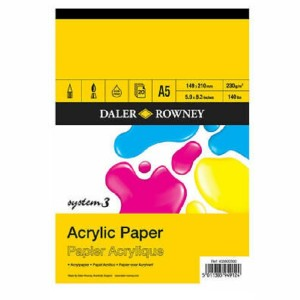 Daler Rowney System 3 - Acrylic Painting Pad - A5