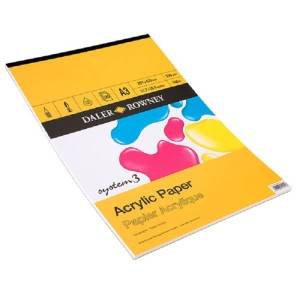 Daler-Rowney System 3 Acrylic Pad 230gsm - 20 sheets - A3