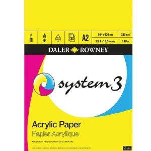 Daler Rowney System 3 Acrylic Pad 230gsm 20 Sheets A2