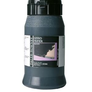 Daler Rowney Acrylic Medium Gesso Primer 500ml Black