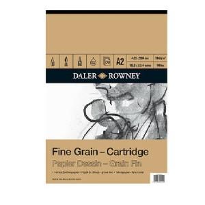 Daler Rowney Fine Grain Drawing Cartridge Pad 160gsm 30 Sheets A2