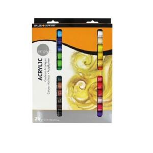 Daler Rowney Simply Acrylic Paint Set 24