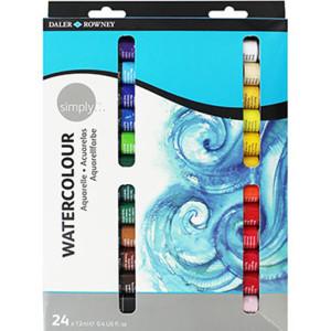 Daler Rowney Simply Watercolour 24 x 12ml Set