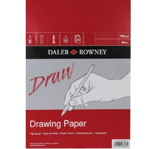 Daler Rowney Medium grain drawing pad A5 160 g 50 SH