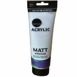 Daler Rowney Simply Acrylic Matt Medium (250ml)