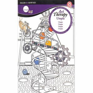 Daler Rowney Art Therapy Colouring Book Utopia A5
