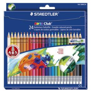 Staedtler Pencils 24 color erasable 144 50NC24