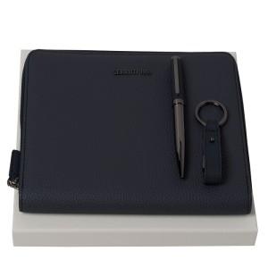 Set CERRUTI 1881 NPBMU711N Hamilton Dark Blue (ballpoint pen, conference folder A5 & usb stick)