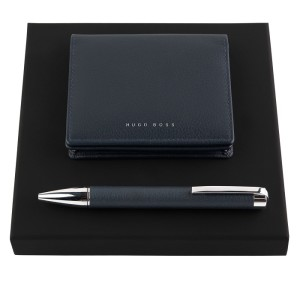 Hugo Boss HPBC704N Set Storyline Dark Blue (ballpoint pen & card holder)