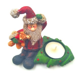 Christmas Santa Statue with candle