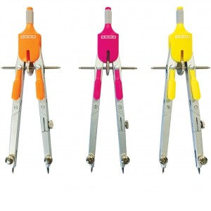 ARDA Compass WITH ARTICULATED RODS AND EXTENSION + Ruler in SMART BOX