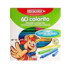 ETAFELT Fine Point Super washable Markers 60 Pcs Fibracolor