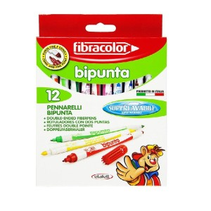 ETAFELT Fibracolor Bipunta Twin Tip Fiber Pen 12set