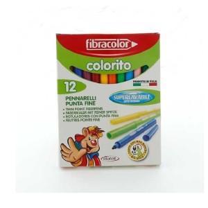 ETAFELT Fine Point Super washable Markers 12 Pcs Fibracolor