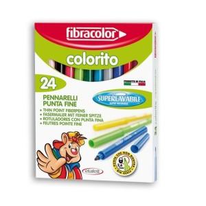 ETAFELT Fine Point Super washable Markers 24 Pcs Fibracolor